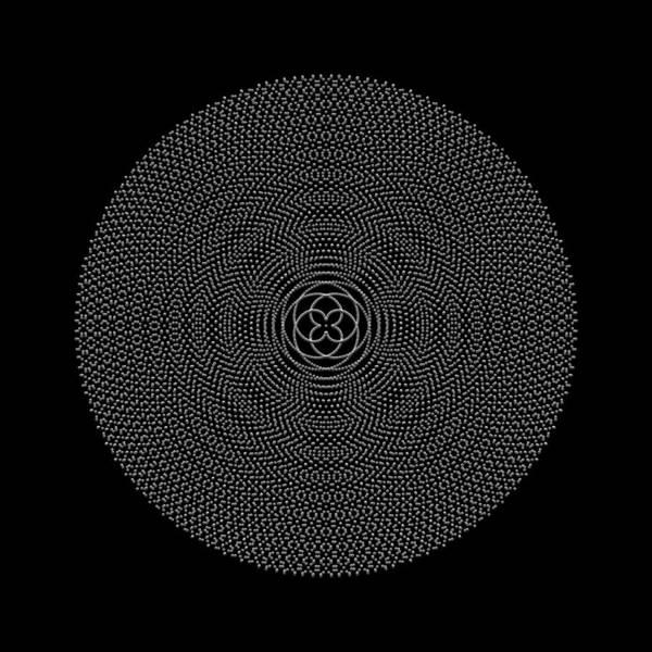 Digital Art - Metallic Beaded Mandala Ib by Robert Krawczyk