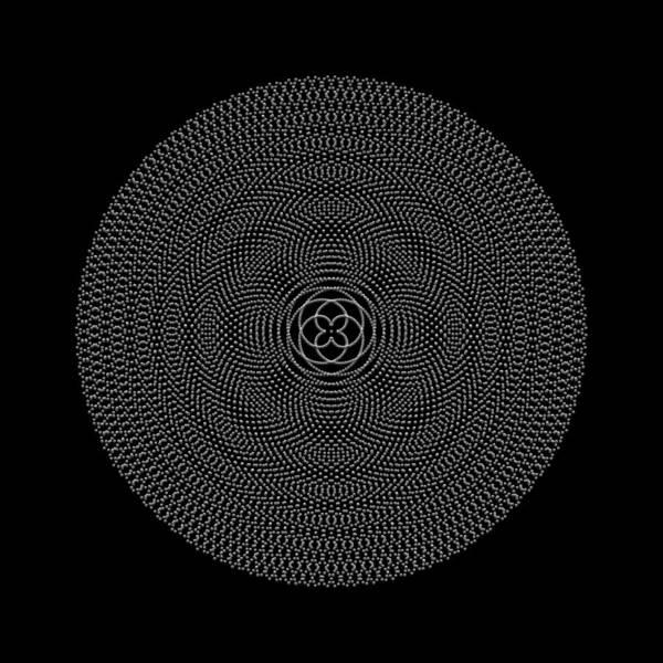 Digital Art - Metallic Beaded Mandala IIb by Robert Krawczyk