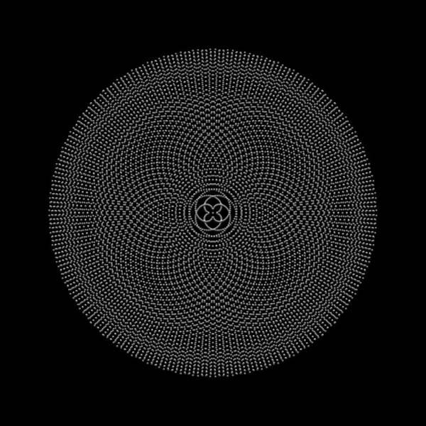 Digital Art - Metallic Beaded Mandala Ivb by Robert Krawczyk