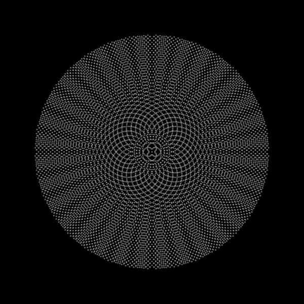 Digital Art - Metallic Beaded Mandala Ixb by Robert Krawczyk