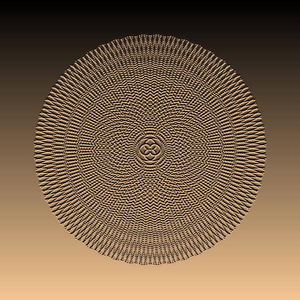 Digital Art - Metallic Beaded Mandala Va by Robert Krawczyk