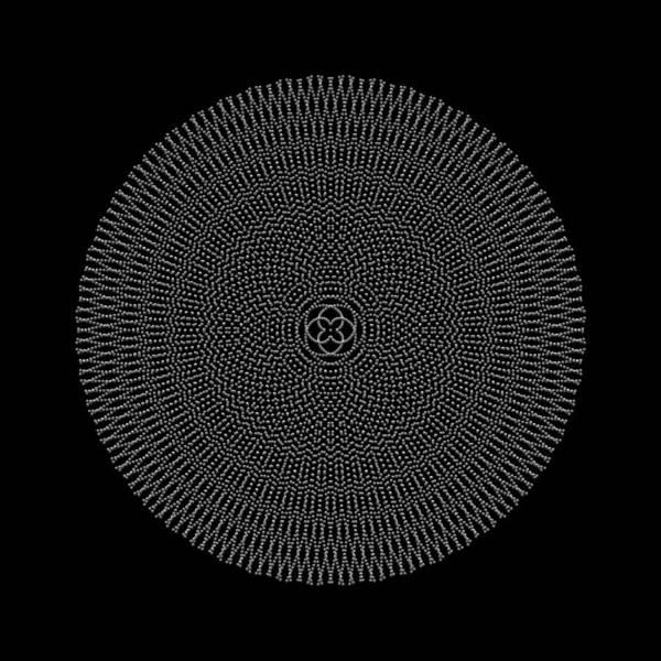 Digital Art - Metallic Beaded Mandala Vb by Robert Krawczyk