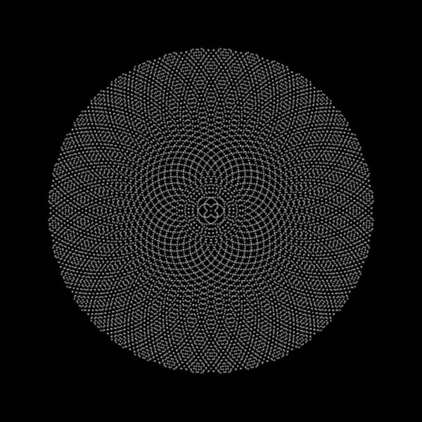 Digital Art - Metallic Beaded Mandala Viib by Robert Krawczyk