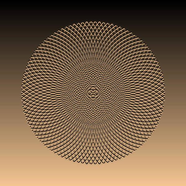 Digital Art - Metallic Beaded Mandala Viiia by Robert Krawczyk