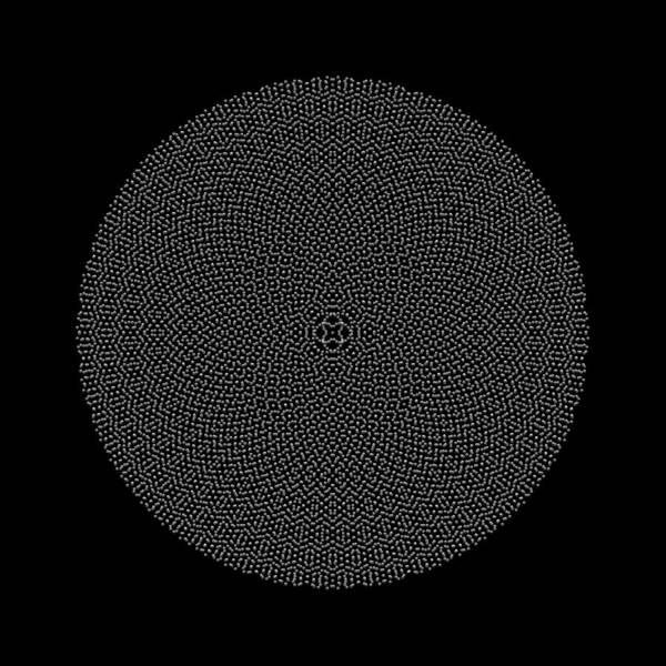Digital Art - Metallic Beaded Mandala Xb by Robert Krawczyk
