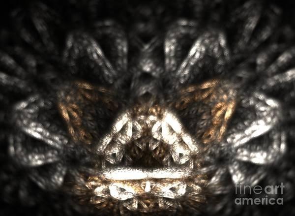Crochet Digital Art - Metallic Chaise by Kim Sy Ok