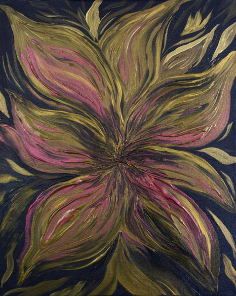 Painting - Metallic Flower by Michelle Pier