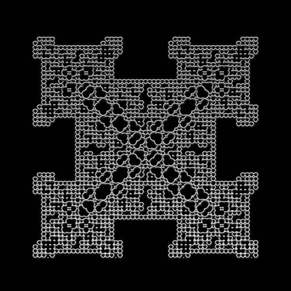 Digital Art - Metallic Lace Bi by Robert Krawczyk