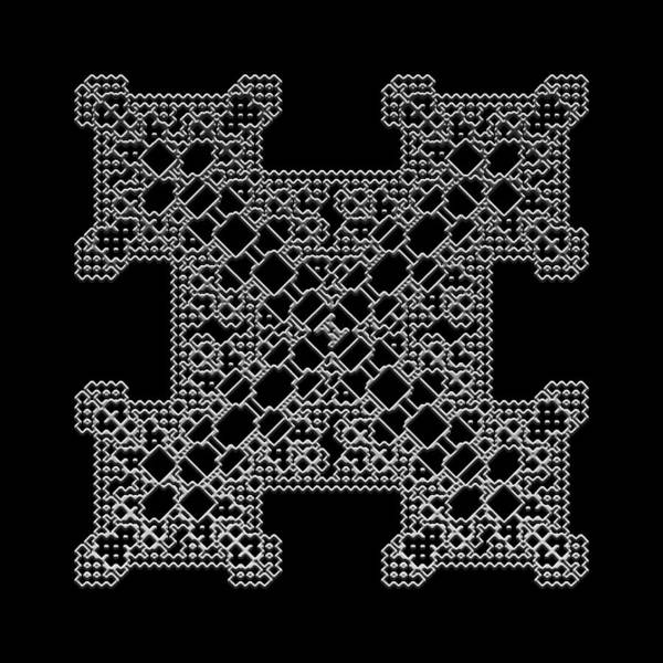 Digital Art - Metallic Lace Bii by Robert Krawczyk