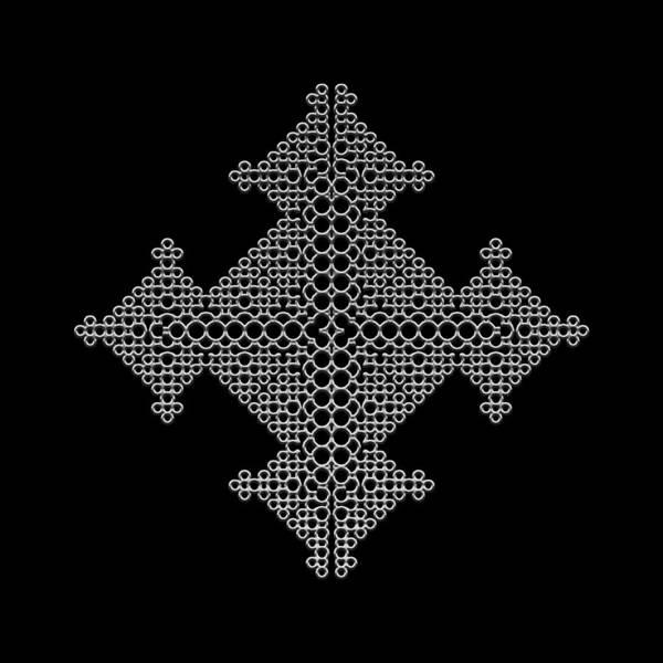 Digital Art - Metallic Lace Bvi by Robert Krawczyk