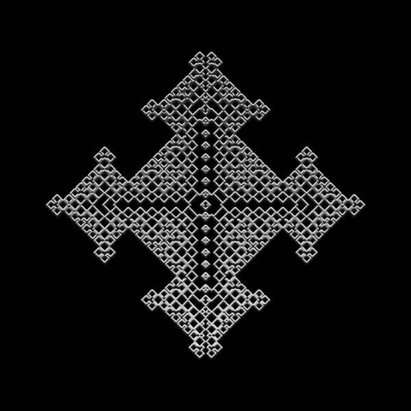 Digital Art - Metallic Lace Bvii by Robert Krawczyk