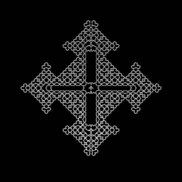 Digital Art - Metallic Lace Bx by Robert Krawczyk
