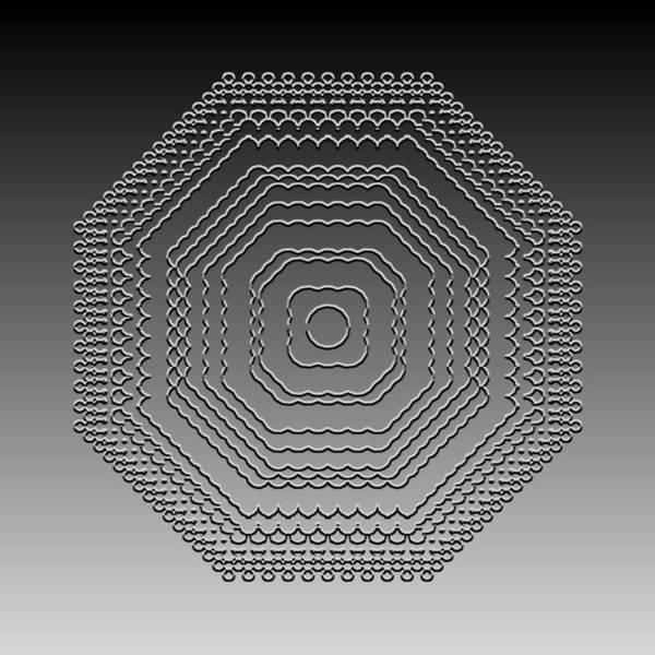 Digital Art - Metallic Lace Ci by Robert Krawczyk