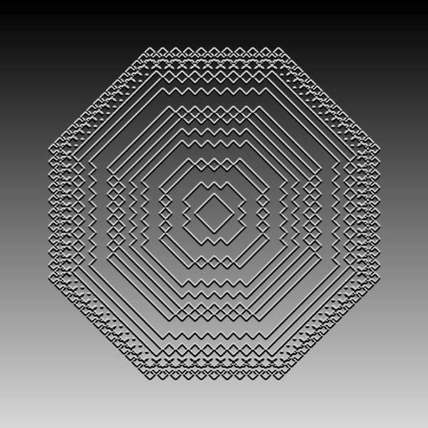 Digital Art - Metallic Lace Cii by Robert Krawczyk