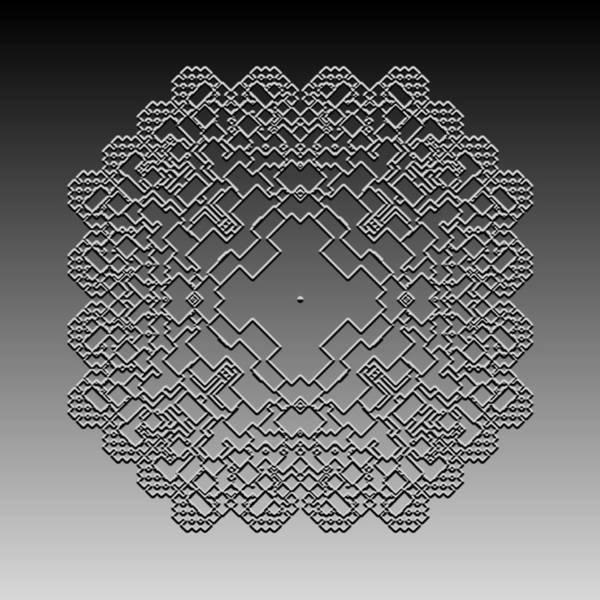 Digital Art - Metallic Lace Cil by Robert Krawczyk