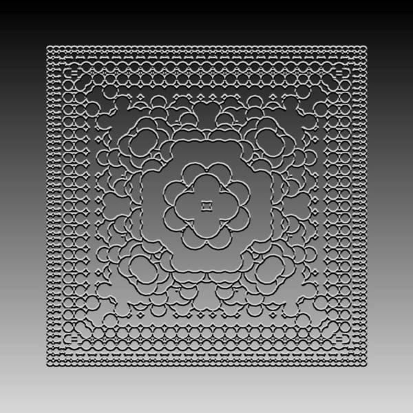 Digital Art - Metallic Lace Cix by Robert Krawczyk