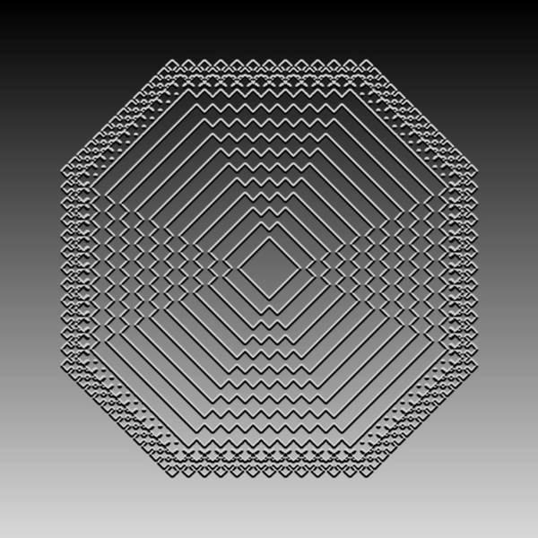 Digital Art - Metallic Lace Cvi by Robert Krawczyk