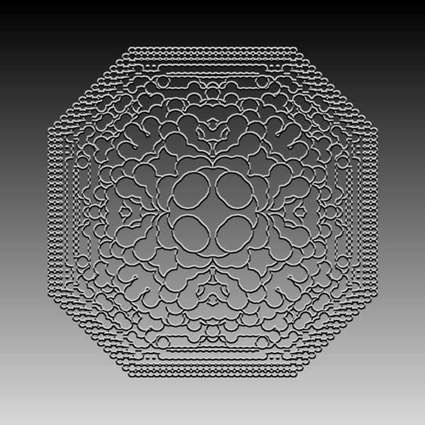 Digital Art - Metallic Lace Cvii by Robert Krawczyk