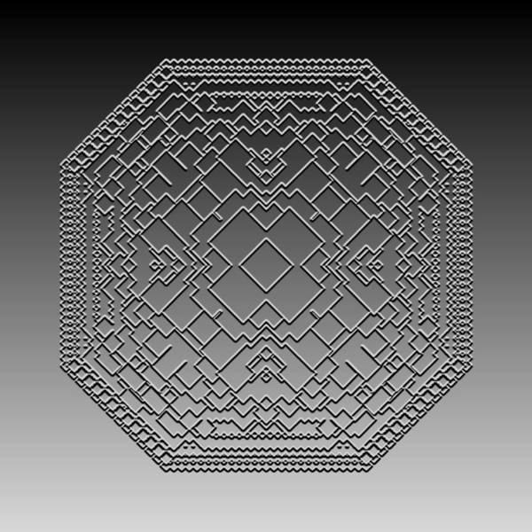 Digital Art - Metallic Lace Cviii by Robert Krawczyk