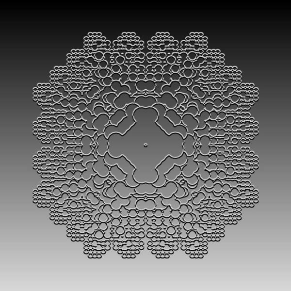 Digital Art - Metallic Lace Cvliii by Robert Krawczyk