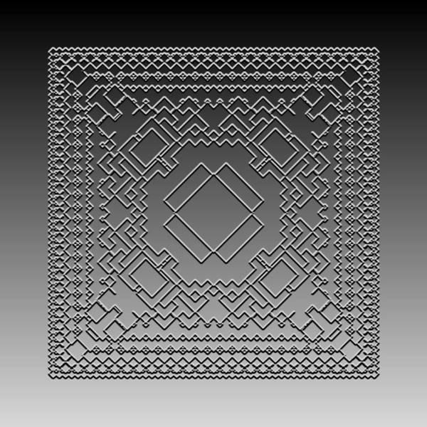 Digital Art - Metallic Lace Cx by Robert Krawczyk