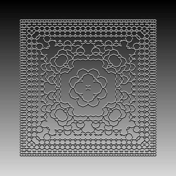 Digital Art - Metallic Lace Cxi by Robert Krawczyk