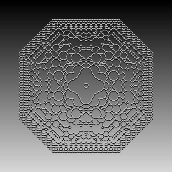 Digital Art - Metallic Lace Cxii by Robert Krawczyk