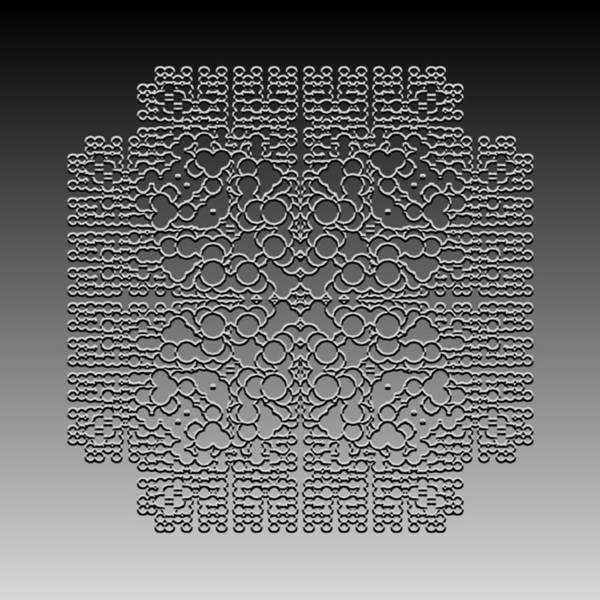 Digital Art - Metallic Lace Cxiv by Robert Krawczyk