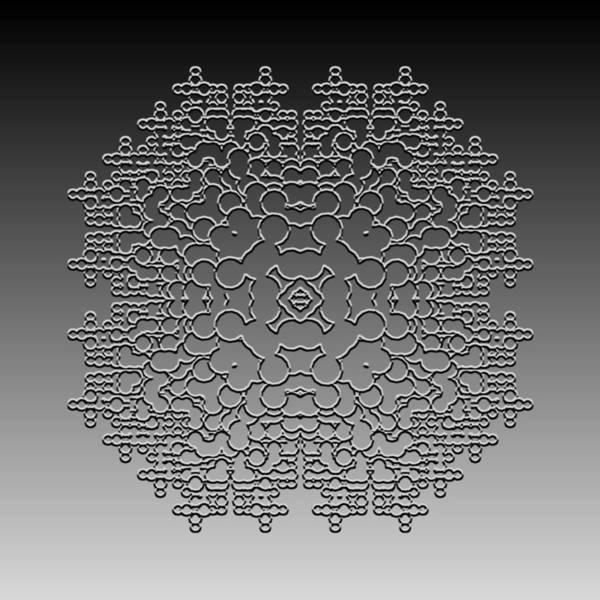Digital Art - Metallic Lace Cxl by Robert Krawczyk