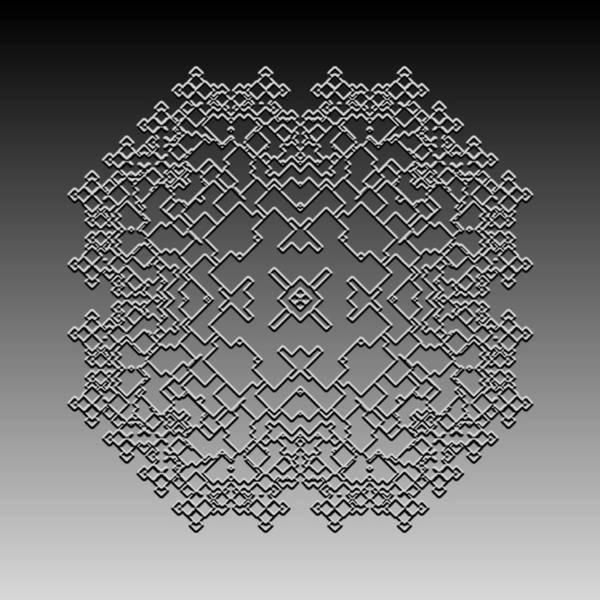 Digital Art - Metallic Lace Cxli by Robert Krawczyk