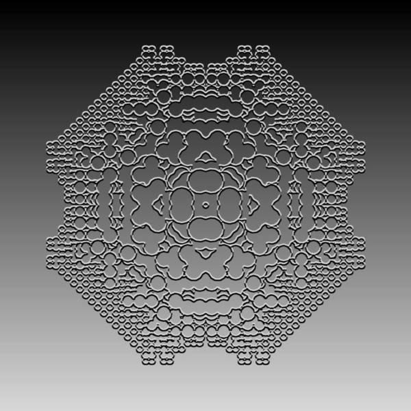 Digital Art - Metallic Lace Cxlii by Robert Krawczyk