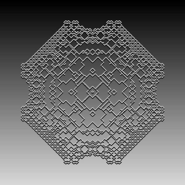 Digital Art - Metallic Lace Cxliii by Robert Krawczyk