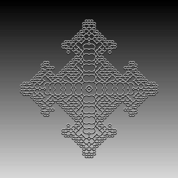 Digital Art - Metallic Lace Cxliv by Robert Krawczyk