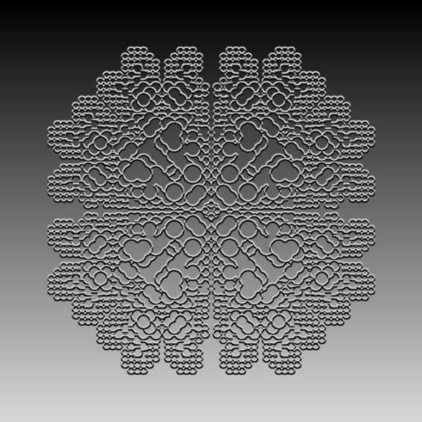 Digital Art - Metallic Lace Cxx by Robert Krawczyk