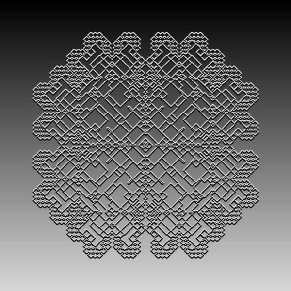 Digital Art - Metallic Lace Cxxi by Robert Krawczyk