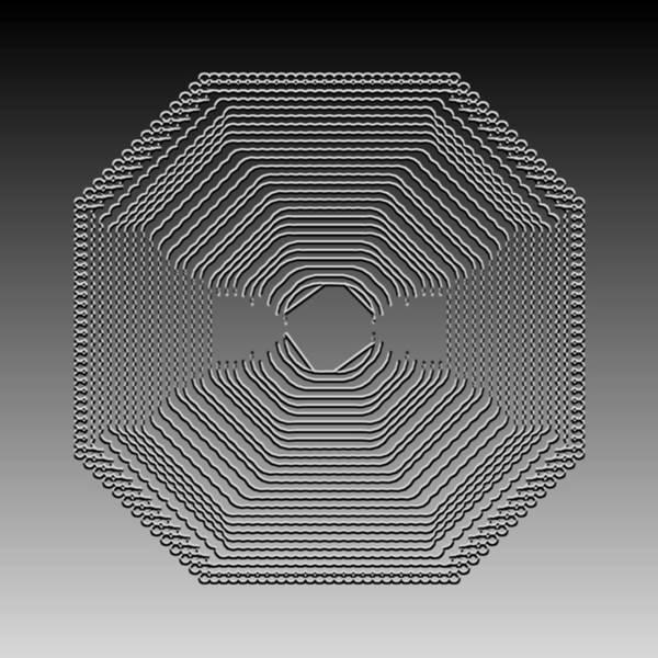 Digital Art - Metallic Lace Cxxii by Robert Krawczyk