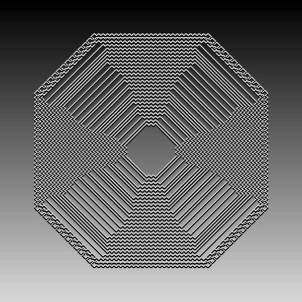 Digital Art - Metallic Lace Cxxiii by Robert Krawczyk