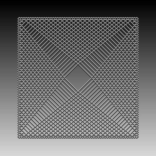 Digital Art - Metallic Lace Cxxv by Robert Krawczyk