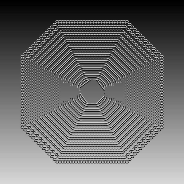 Digital Art - Metallic Lace Cxxvi by Robert Krawczyk
