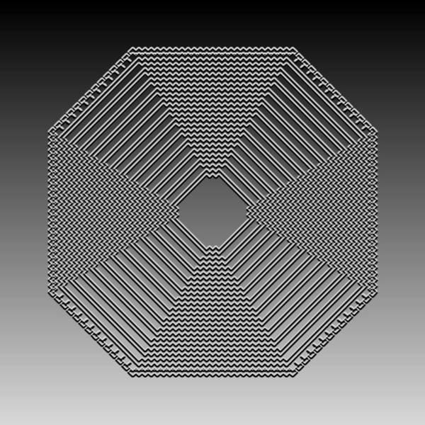 Digital Art - Metallic Lace Cxxvii by Robert Krawczyk