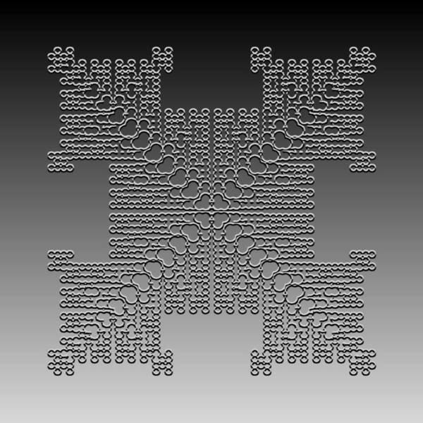 Digital Art - Metallic Lace Cxxx by Robert Krawczyk