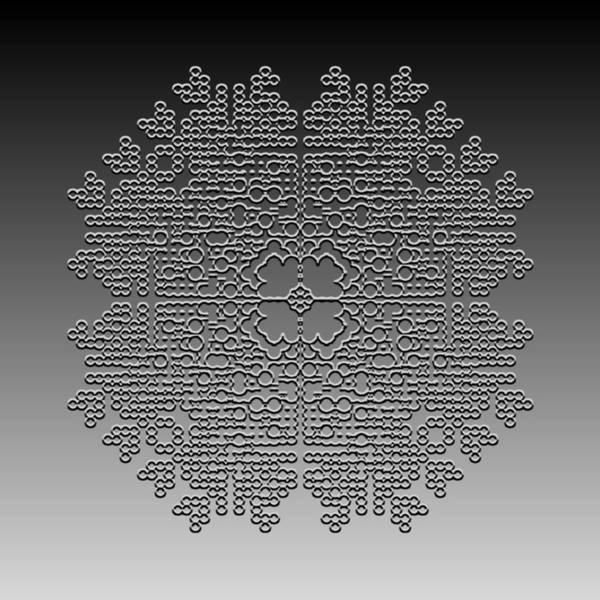 Digital Art - Metallic Lace Cxxxii by Robert Krawczyk