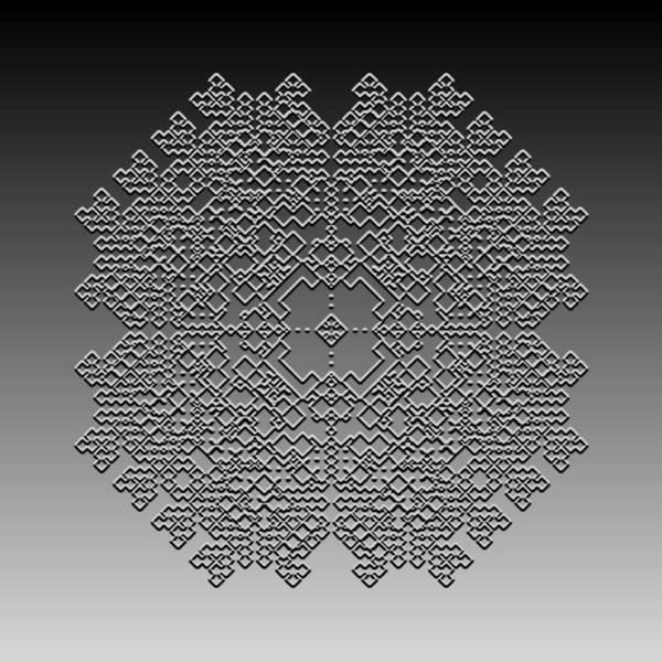 Digital Art - Metallic Lace Cxxxiii by Robert Krawczyk