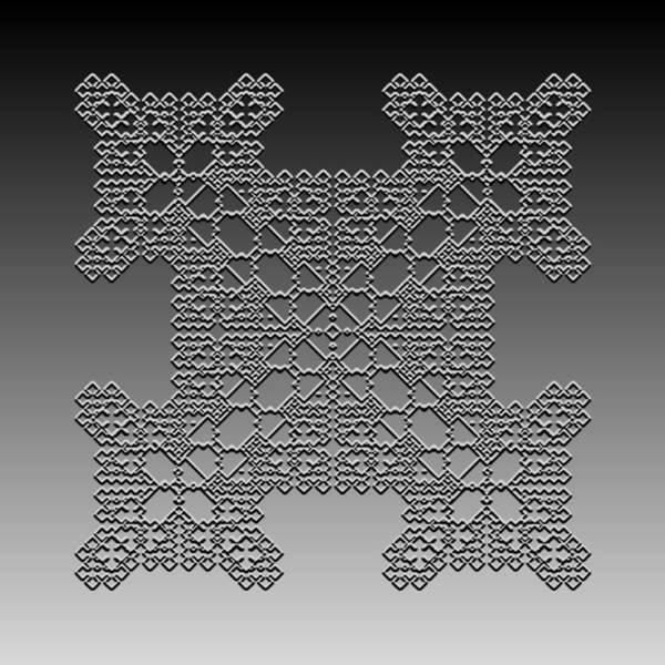 Digital Art - Metallic Lace Cxxxix by Robert Krawczyk