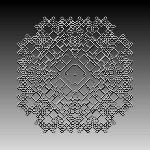 Digital Art - Metallic Lace Cxxxv by Robert Krawczyk