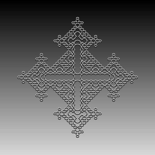 Digital Art - Metallic Lace Cxxxvi by Robert Krawczyk