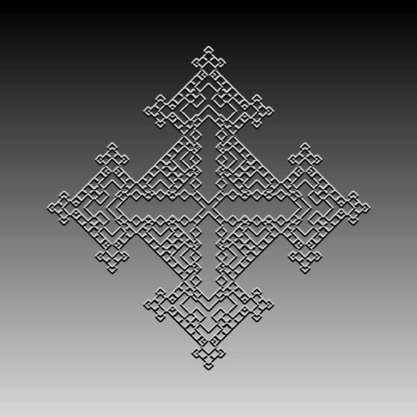 Digital Art - Metallic Lace Cxxxvii by Robert Krawczyk