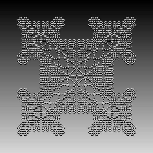Digital Art - Metallic Lace Cxxxviii by Robert Krawczyk