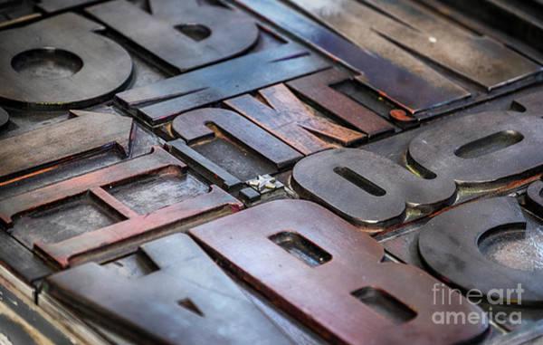 Photograph - Metallic Letterpress  by Ariadna De Raadt