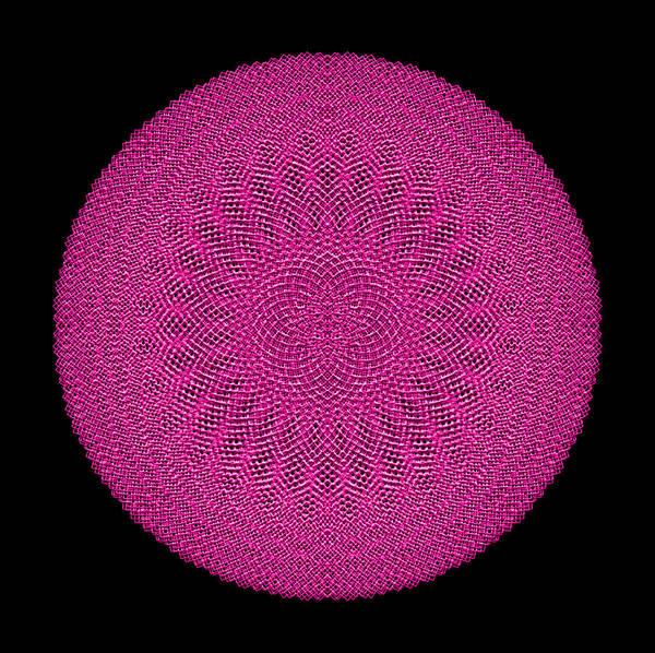 Digital Art - Metallic Mesh Mandala IIb by Robert Krawczyk